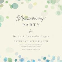 Bubbly Background - Anniversary Invitation