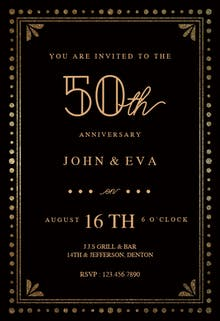 Fancy night - Anniversary Invitation
