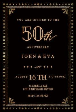 Fancy night - Anniversary Invitation