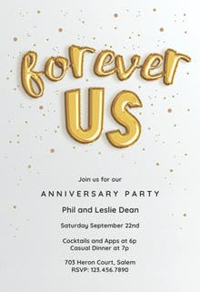 Free anniversary invitation templates greetings island forever balloons anniversary invitation stopboris Images