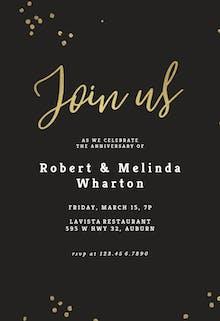 Minimal confetti - Anniversary Invitation