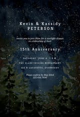 Rustic forest - Anniversary Invitation
