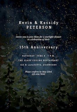 Rustic forest - Anniversary Invitation