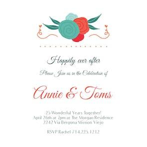 Spiral Roses - Anniversary Invitation