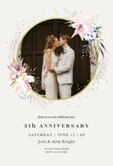 Whimsical wreath - Anniversary Invitation