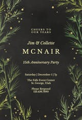 Winter greenery - Anniversary Invitation