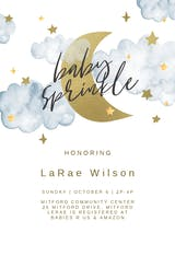 Over the moon - Baby sprinkle Invitation