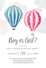 Air Balloon Reveal - Invitación De revelación de género