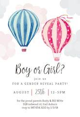 Air Balloon Reveal - Gender Reveal Invitation