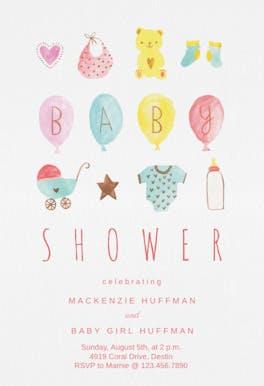 Baby Bounty - Baby Shower Invitation