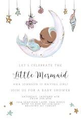 Baby Mermaid - Baby Shower Invitation
