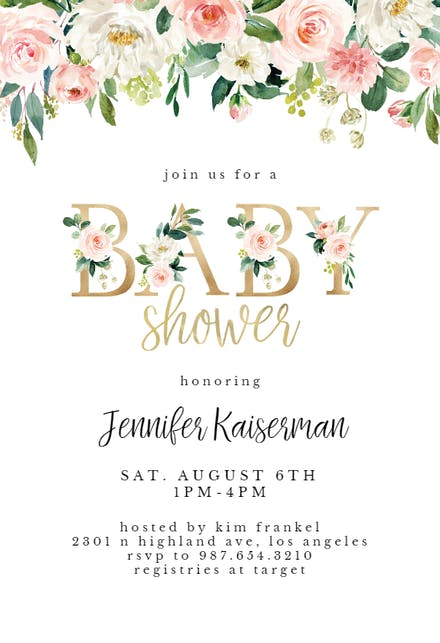 Baby Shower Fl Letters
