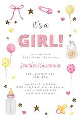 Baby Stuff And Glitter - Baby Shower Invitation