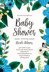 Blue & Orange - Baby Shower Invitation