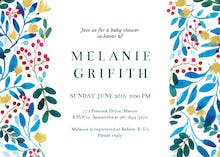 Blue & Red - Baby Shower Invitation