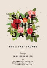 Bouquet of flowers - Baby Shower Invitation