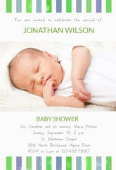 Brand New Boy - Baby Shower Invitation