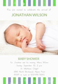 Brand New Boy - Baby Shower Invitation Template