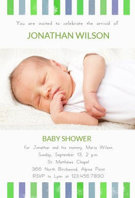 Brand New Boy - Baby Shower Invitation