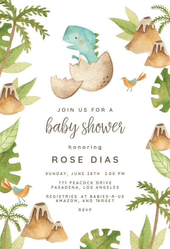 Dinosaur Gender Neutral Baby Shower Invites Watercolor Dinosaur Baby Shower Package Instant Download Dinosaur Baby Shower Invitation Set