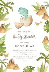 Dino adventure - Baby Shower Invitation