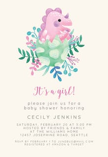 Dino is born - Baby Shower Invitation