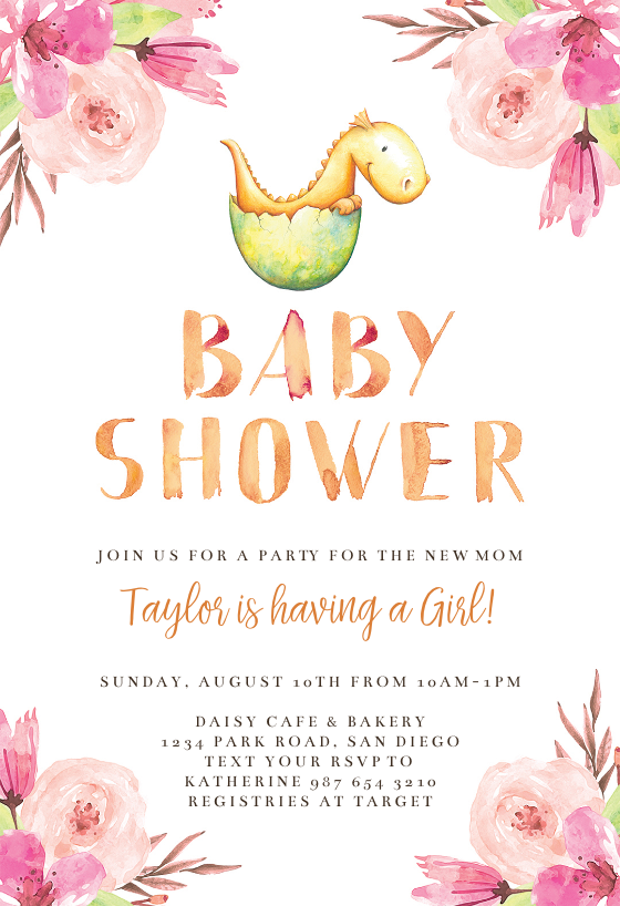 image about Free Printable Dinosaur Baby Shower Invitations identify Dinosaur Egg - Child Shower Invitation Template (Cost-free