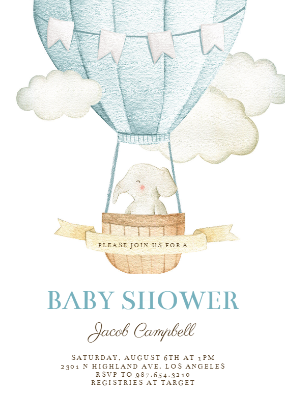 graphic about Free Printable Elephant Baby Shower Invitations called Boy or girl Shower Invitation Templates (Absolutely free) Greetings Island