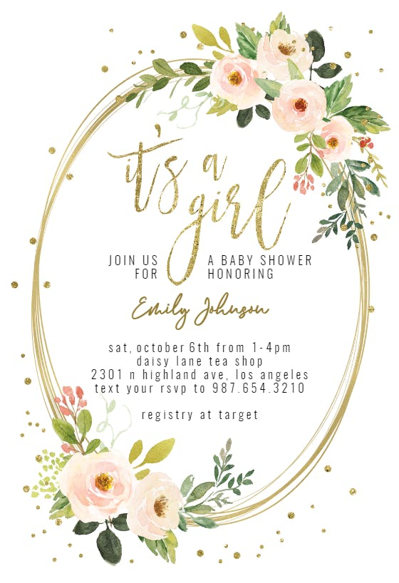 Blush Pink Watercolor for Baby Shower Invitation Printable Blush Pink Floral Watercolor Baby Shower Baby Girl Baby Shower Invitation