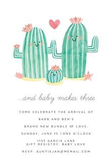 Family Photo - Baby Shower Invitation