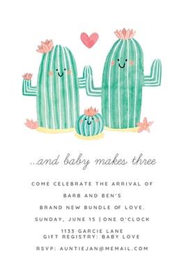 Family Photo - Baby Shower Invitation