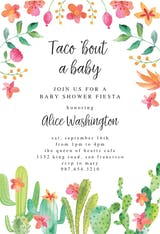 Flowerly Fiesta - Baby Shower Invitation