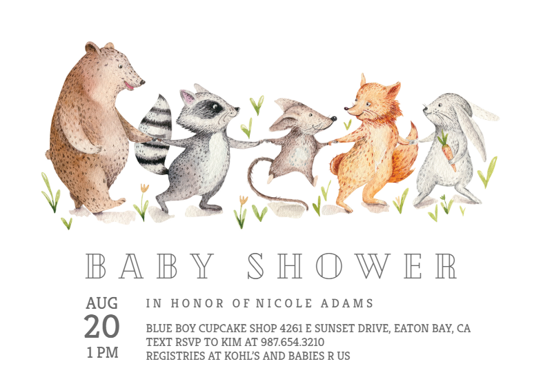 Woodland Baby Shower Invitation Template Free