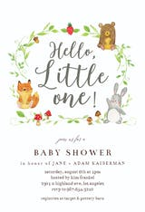 Forrest Animals Hand Lettered - Baby Shower Invitation