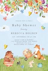 Garden adventures - Baby Shower Invitation