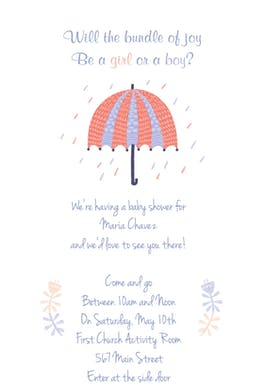 Girl Or Boy - Baby Shower Invitation Template