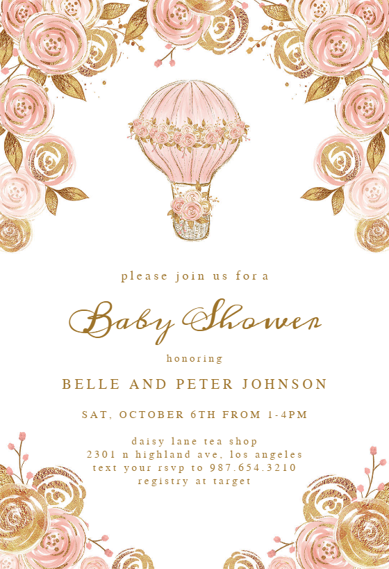 graphic regarding Free Printable Baby Shower Invitations for Girls referred to as Little one Shower Invitation Templates (No cost) Greetings Island