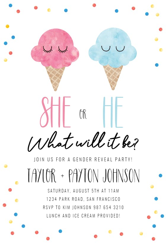 Editable Whats the Scoop Gender Reveal Invite Will Baby be He or She Printable Template INSTANT ACCESS Ice Cream Gender Reveal Invitation