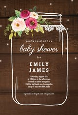 Jar of love - Baby Shower Invitation