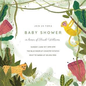 Jungle - Baby Shower Invitation