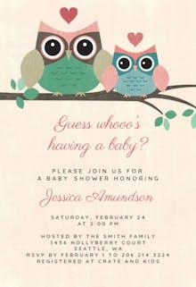 Lovely owls - Baby Shower Invitation