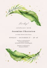 Magical greenery - Baby Shower Invitation