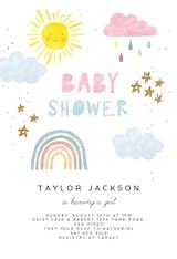 Magical rainbow - Baby Shower Invitation