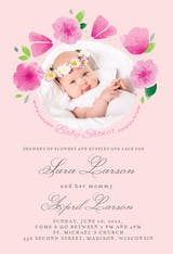 Petite Petals - Baby Shower Invitation