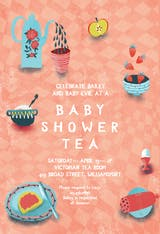 Pinkie Party - Baby Shower Invitation