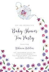 Pouring Tea - Baby Shower Invitation