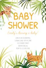 Safari - Baby Shower Invitation