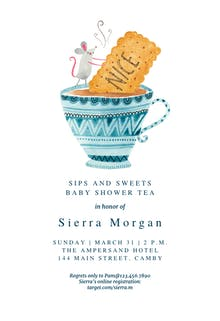 Sips and Sweets - Baby Shower Invitation