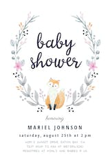 Soft Fox - Baby Shower Invitation