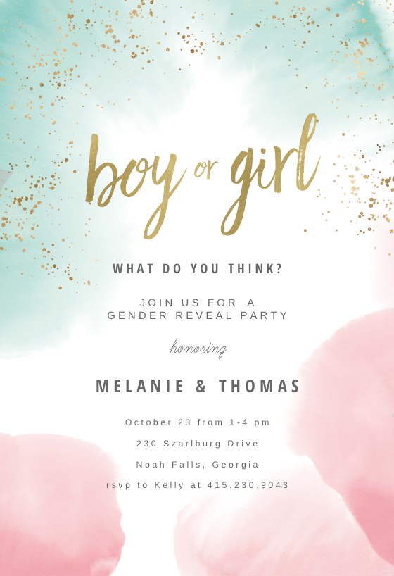 image about Free Printable Gender Reveal Party Invitations identified as Gender Clarify Invitation Templates (Free of charge) Greetings Island